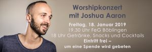 Worshipkonzert mit Joshua Aaron @ Freie evangelische Gemeinde Böblingen | Böblingen | Baden-Württemberg | Deutschland