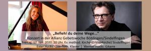 Konzert in der Allianz Gebetswoche mit Ester und Werner Hucks @ Evangelisch-Methodistische Kirche | Sindelfingen | Baden-Württemberg | Deutschland