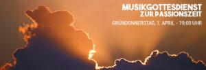 Musikgottesdienst zur Passionszeit mit C. Zehendner, K. A. Eickhoff u. G. Blume @ FeG Böblingen Kirche auf der Hulb | Böblingen | Baden-Württemberg | Deutschland
